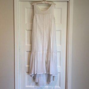 Leifsdottir white high low maxi dress